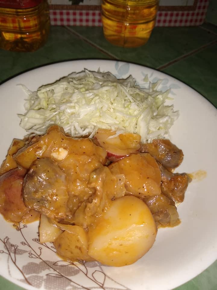 Las recetas cubanas de Yuliet Colón: Guiso de papas, cebollas y mollejas de pollo (+ Fotos)
